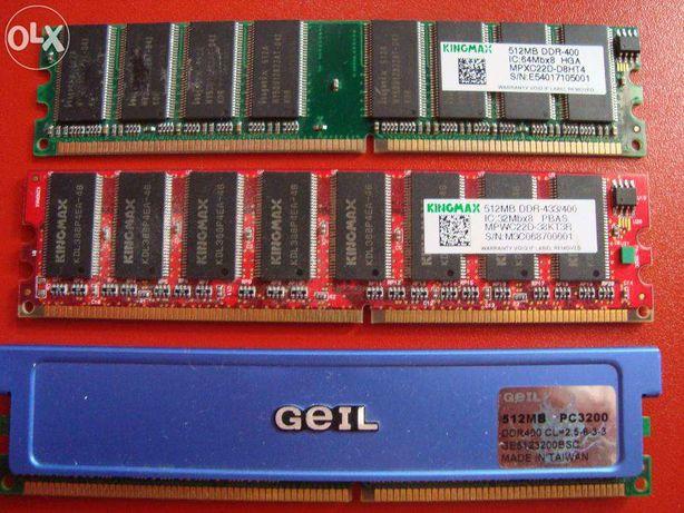 Memorie RAM (1 BUC. 512 Mb DDR-433 kingmax si 1 bucata 512 Mb DDR-400