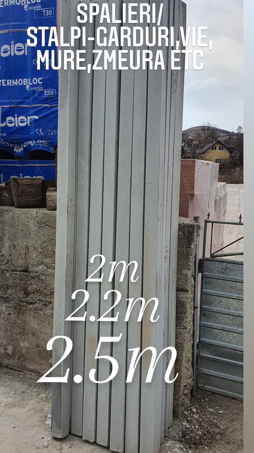 Stalpi/spalieri din beton 2.5m -2.2m-2 m