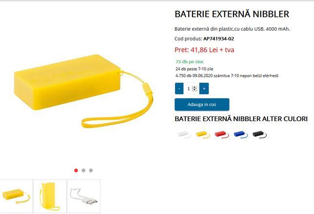 Baterie externa Nibbler 4000 mAh - Produs Nou