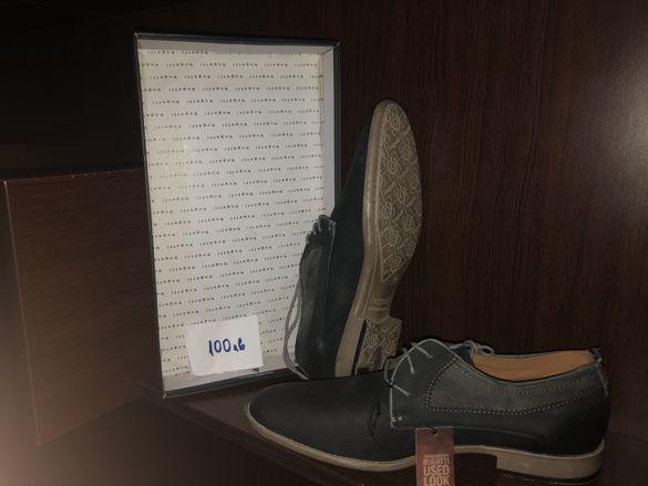 Bugatti Men Shoes, мъжки обувки от естествена кожа