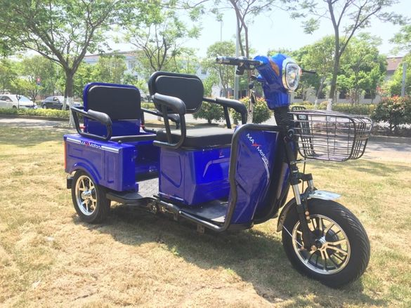 Двуместна електрическа триколка MAX MOTORS 1500W 20 AH модел Blue