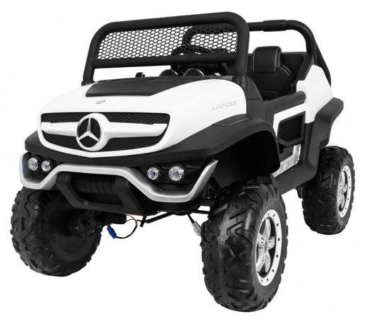 Masinuta electrica pentru copii Mercedes Benz UNIMOG 4x4, Alb