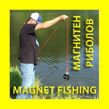 36mm 50кг Магнит за магнитен риболов, с кука (халка) Magnet fishing