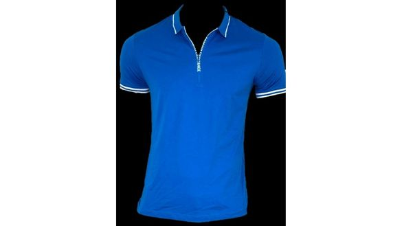 Armani Exchange Slim Fit/G-STAR Ramic Stripe–тениска мъжка синя/рае