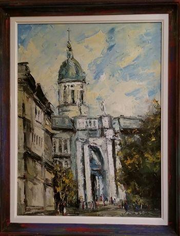 Pictura ulei pe panza Mihai Takacs -Arad Citadina -