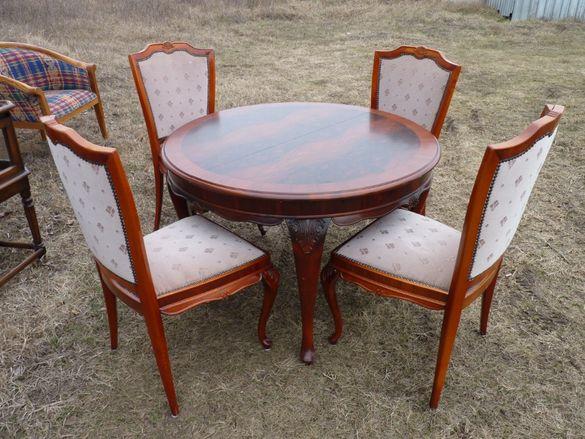 Барокова маса+4 стола внос от Холандия