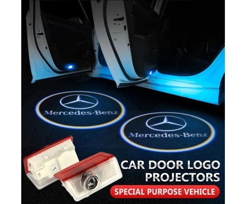 Lumini usi LED Logo Mercedes C E A ML GLA Class proiectoare dedicate