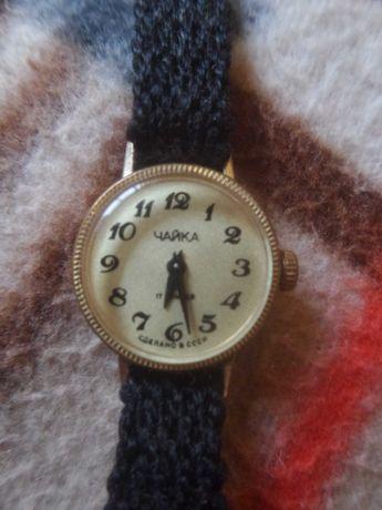Позолоченные советские часы Чайка.