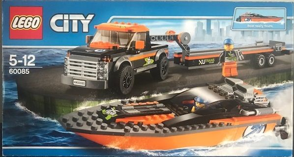 Lego 60085 Masina tractare, remorca si barca de competitie