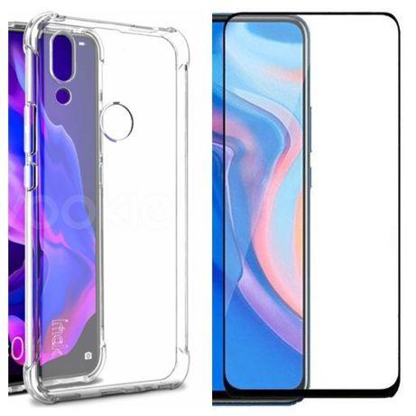 Huawei P Smart Z / 2021 - Husa Silicon Ramforsata si Folie Sticla 11D