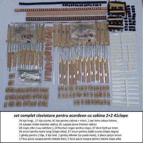 Claviatura acordeon 41 clape cu cabina 2+2