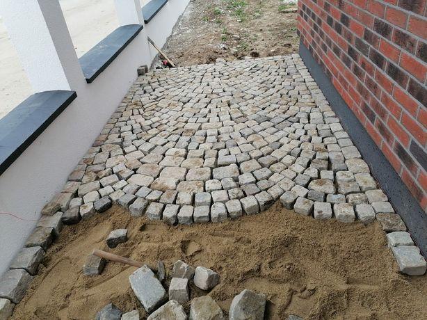 Montaj piatră cubică.   Pavaj ..borduri