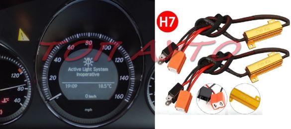 Товарни Резистори Съпротивления 50W 6RJ За Цокъл H7 Комплект 2бр