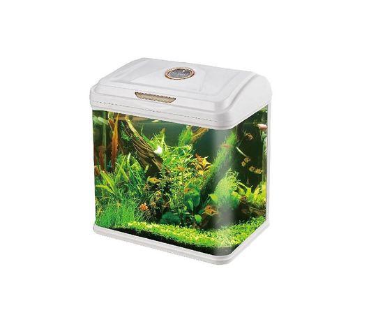 Аквариум за Рибки 9 литра с ЛЕД осветление + хидро помпа и филтър