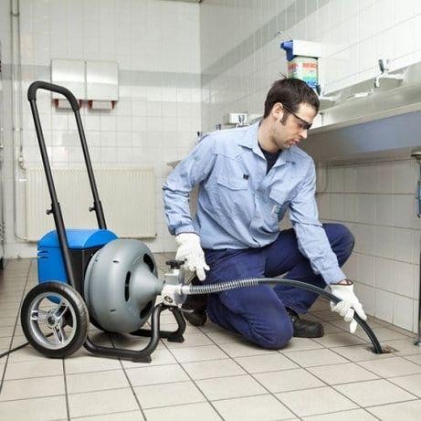 Чистка канализации.Установка труб отопления,радиатора,прочистка