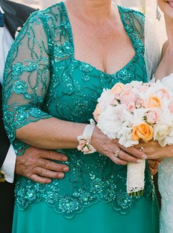 Rochie din dantela lucrata manual, voal din mătase naturală Valentino