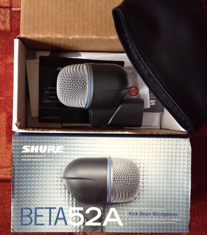 Микрофон shure BETA 52 A (Kick drum)