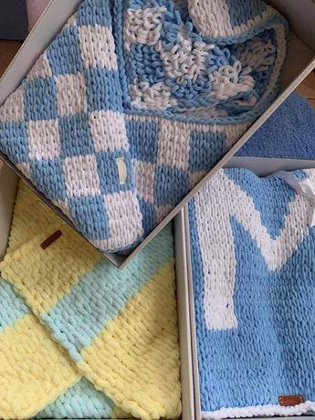 плетени бебешки одеалца