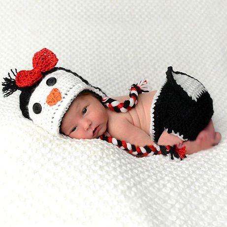 Costum bebelusi crosetat paun/pui