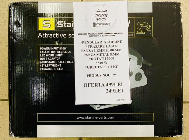 Pendular Starline trasare laser 810w