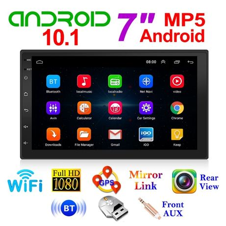 """GPS навигация 7"""", Wi-FI, Android 10 , Double Din, Мултимедия Двоен де"""