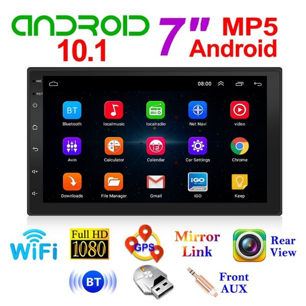 """GPS навигация 7"""", Wi-FI, Android 10.1 ,Double Din, Мултимедия Двоен де гр. София - image 1"""
