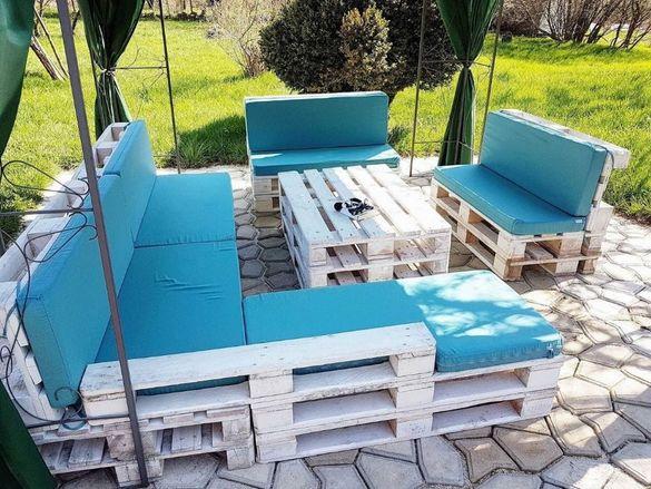 Възглавници за мебели от палети от плат ДЪК