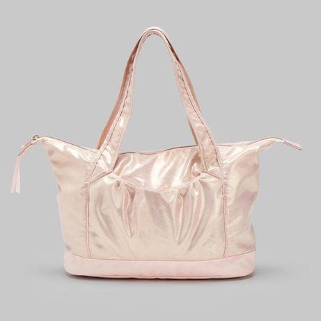 НОВА дамска чанта, златисторозова