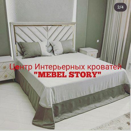 """Кровать в Алматы, двуспальная мягкая """"Гранд"""" со скидкой"""
