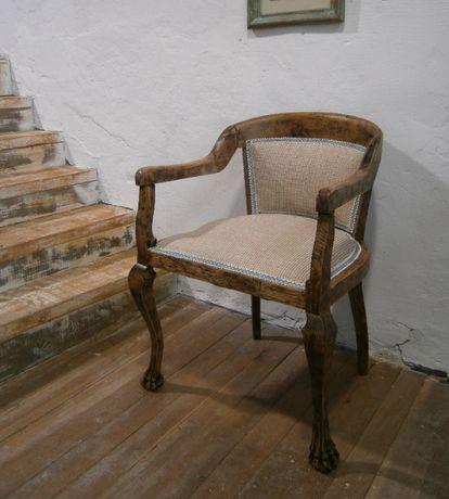 Scaun vechi pentru birou din lemn de stejar reconditionat (Fotoliu)