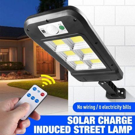 Lampa LED COB solara tip stradal inductie senzor miscare telecomanda