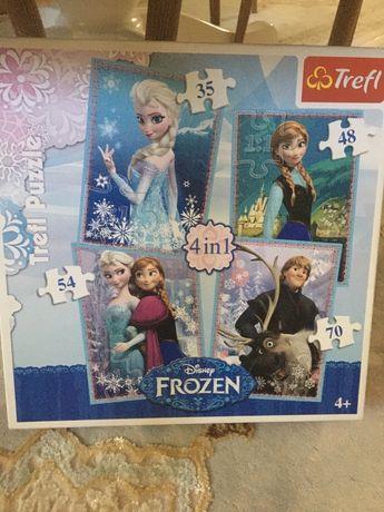 Puzzle Frozen - 4 in 1