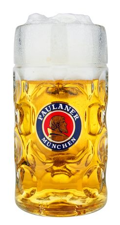 "Halba bere Paulaner München 1L + semn masa ""REZERVAT"" / Oktoberfest"