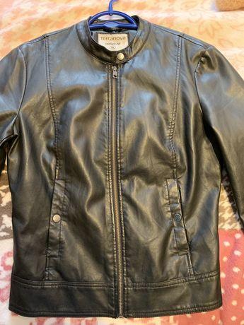 Куртка кожаная женская, эко-кожа, 46-48 р, 3500
