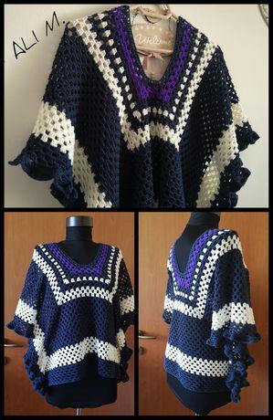 Bluza poncho crosetata