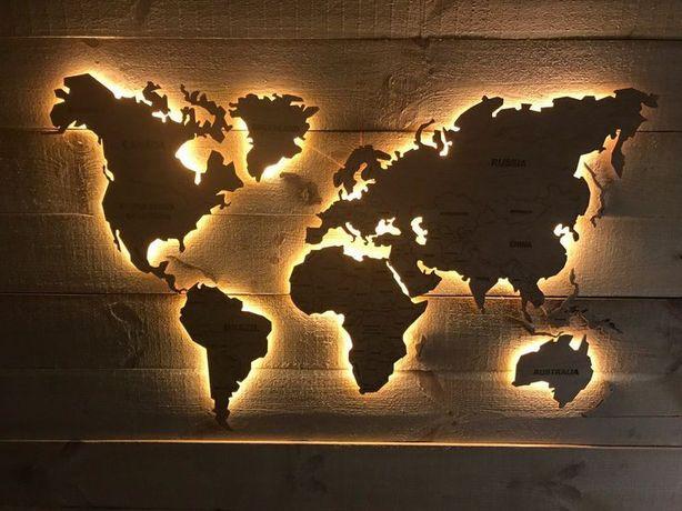 Дизайнерские Карты мира для интерьера
