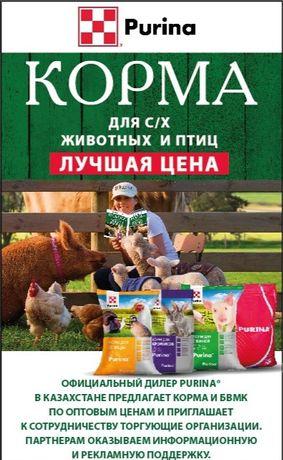 Продажа кормов Пурина для всех видов с/х животных и птицы. Purina