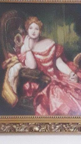 Гоблен Дамата в червено