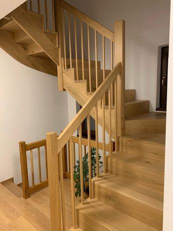 Scari interioare/panouri pentru placat scari din lemn masiv, finisate