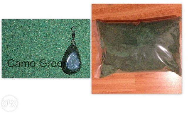 vopsea pentru plastifiat plumbi pescuit verde camuflaj