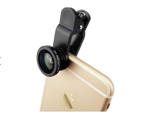 Универсален телеобектив за широкоспектърни снимки - обектив за селфита