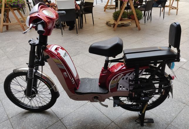 Bicicleta Electrica KUBA 2020 ROSU, Motor 250-350W, 48 V 12AH, 25Km/h