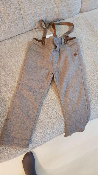 Детски панталон с тиранти