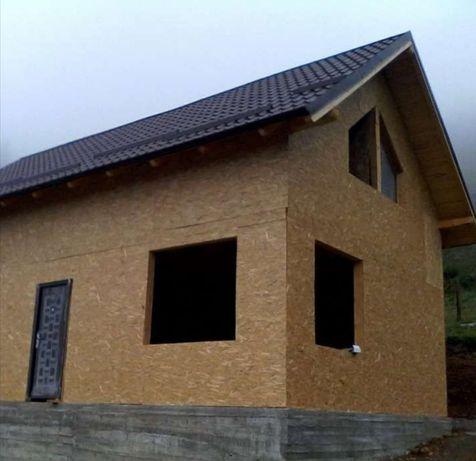 De vânzare case pe structură metalică placate cu OSB și polistiren 7p8