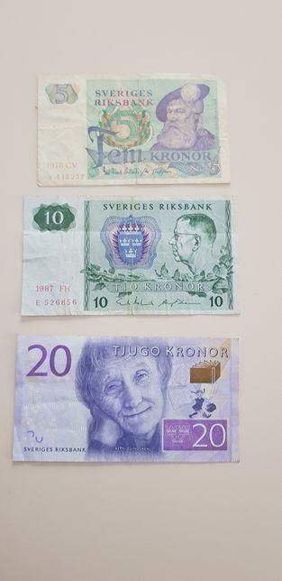 Lot bancnote suedia