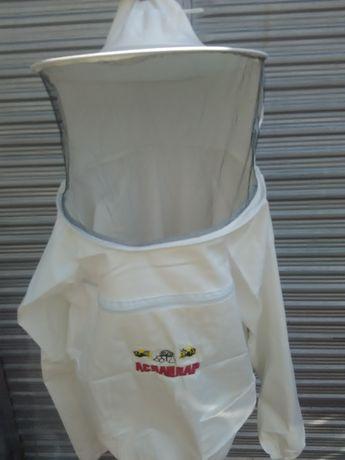 Пчеларски блузон детски плътен бял- пчеларско облекло