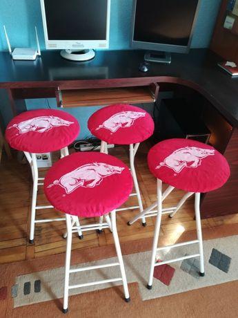 Vand set 4 scaune bar pliabile