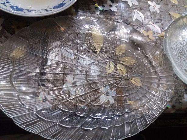 тарелочки блюдце + доска разделочная