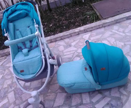 ТОП ОФЕРТА! 3 в 1 Детска количка комбинирана + Столче кола + ПОДАРЪК
