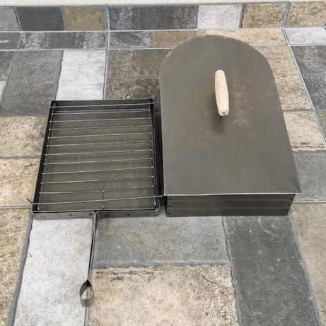 Grill grătar pentru aragaz cu capac